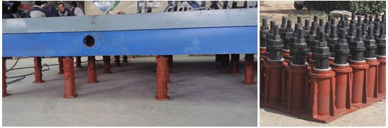 铸铁平台地锚器安装